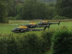 Scenic helicopter tours from the Craig-y-Dderwen Riverside Hotel